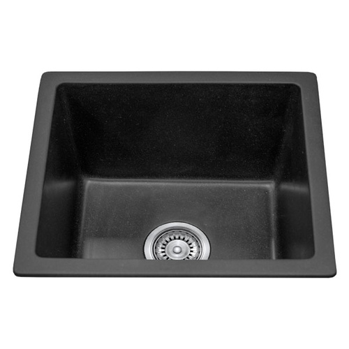 black granite single bowl sink photo - 8