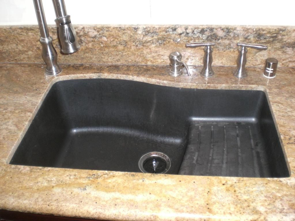 black granite sinks kitchens photo - 3