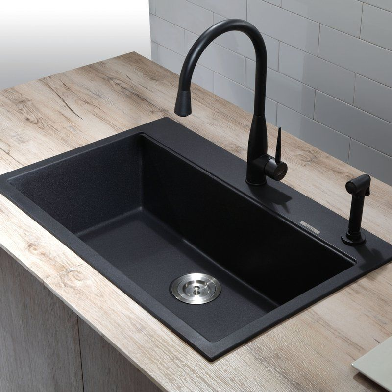 black granite sinks kitchens photo - 4