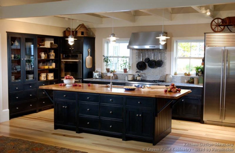black kitchen cabinets images photo - 10