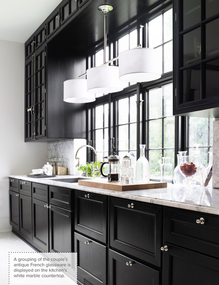 black kitchen cabinets images photo - 3