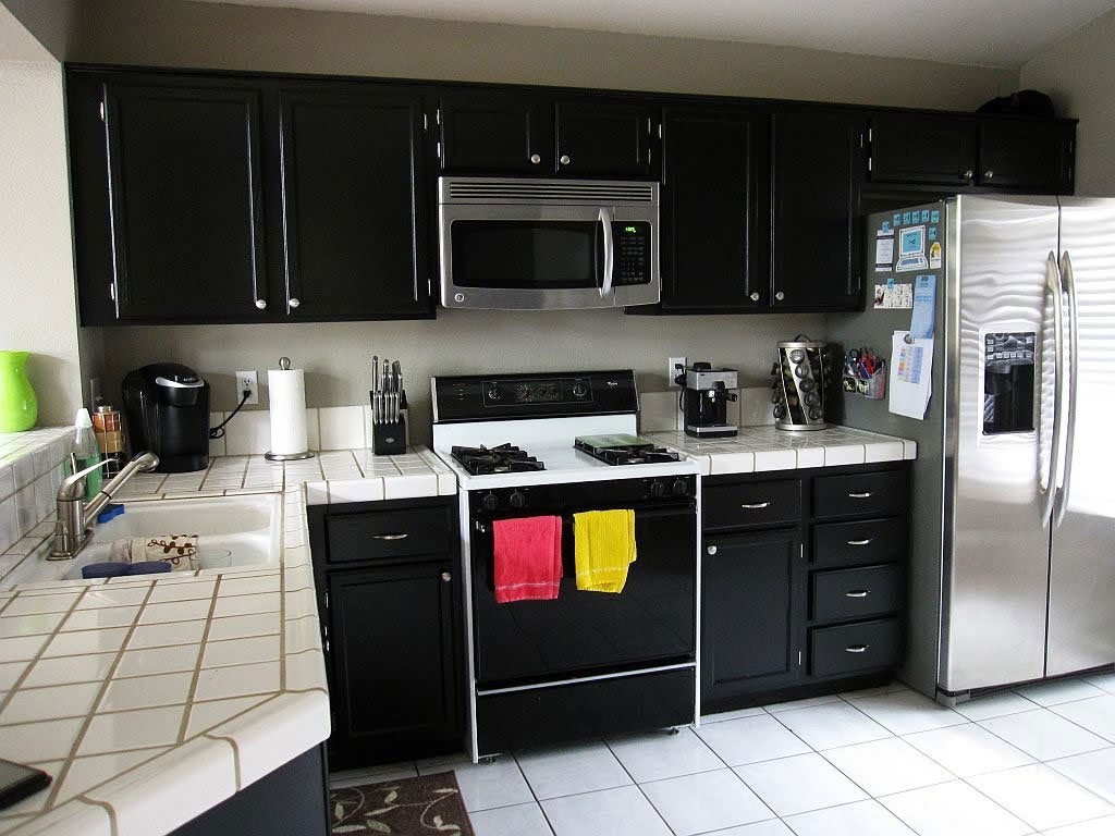 black kitchen cabinets images photo - 4