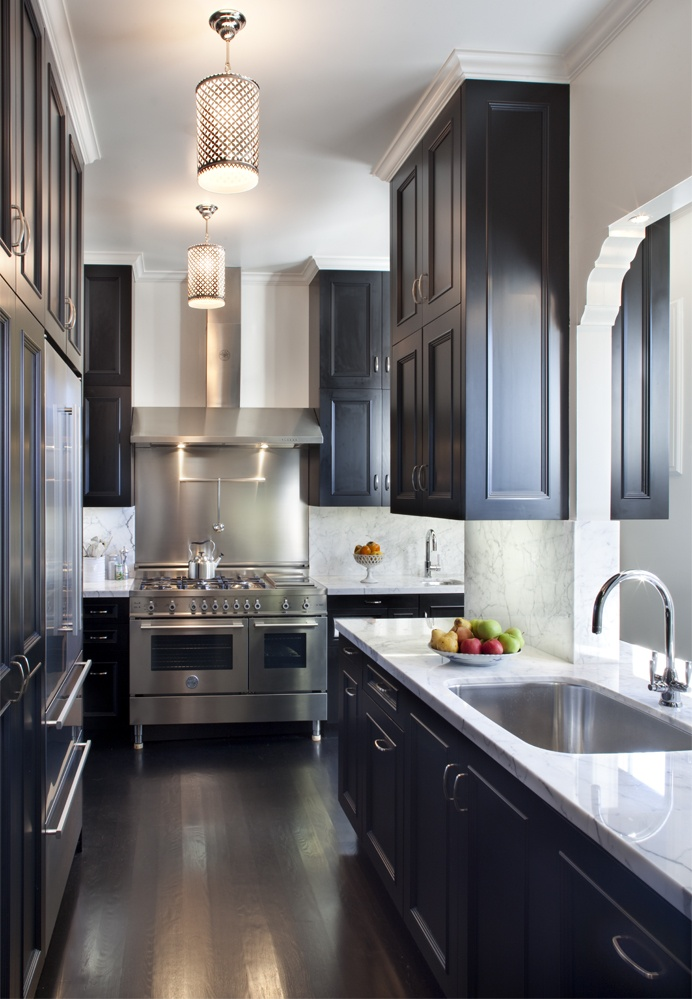 black kitchen cabinets images photo - 7