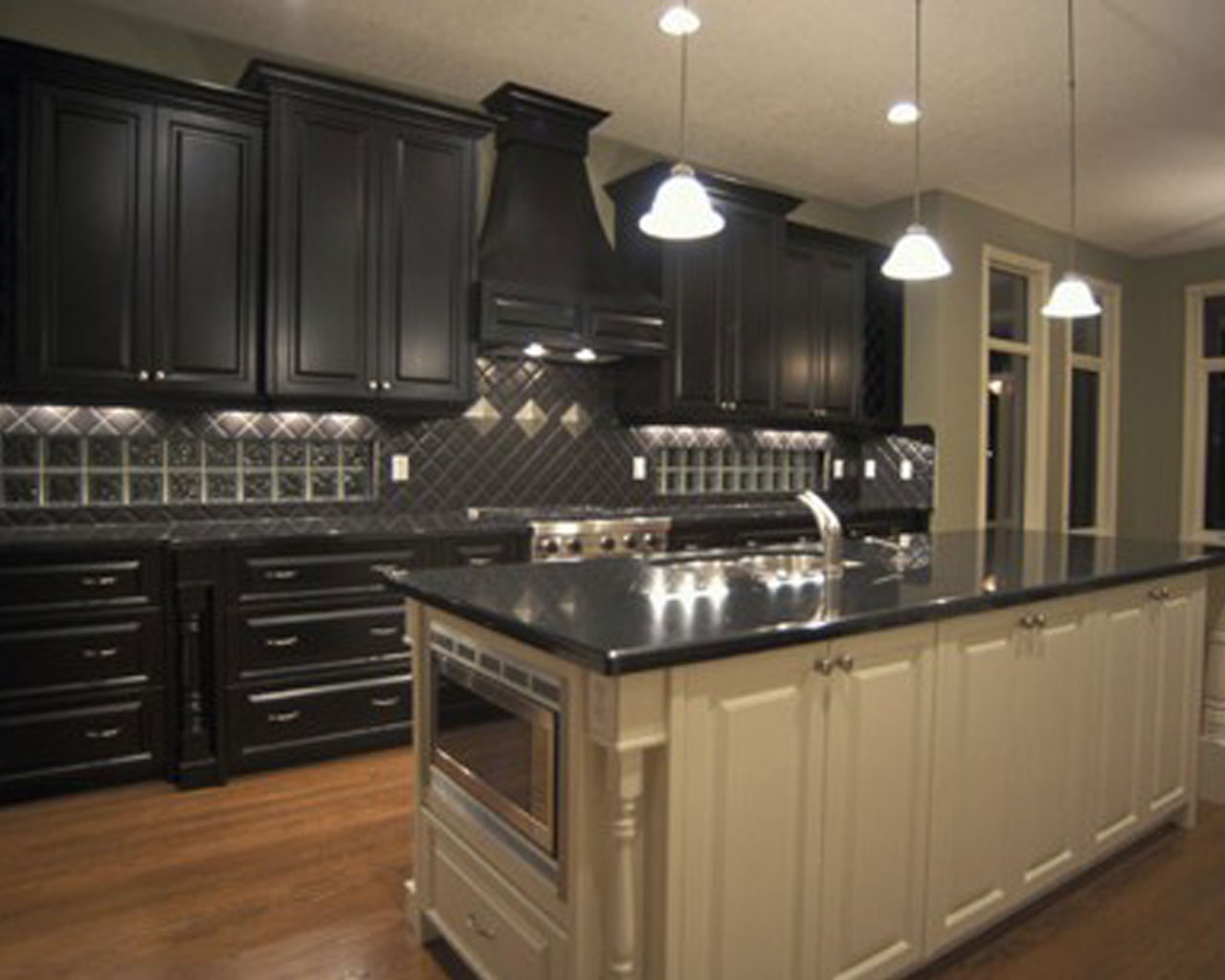 black kitchen cabinets images photo - 9