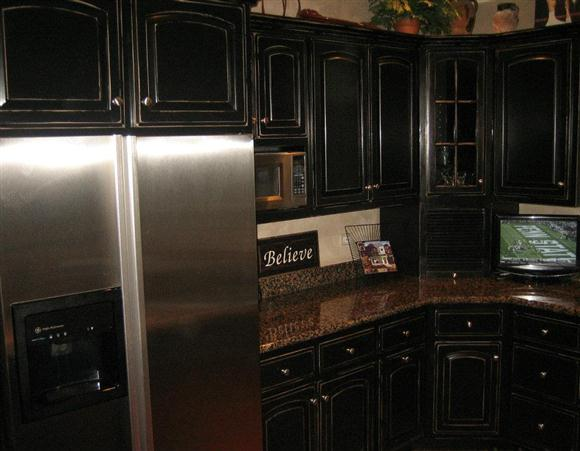 black kitchen cabinets knobs photo - 8
