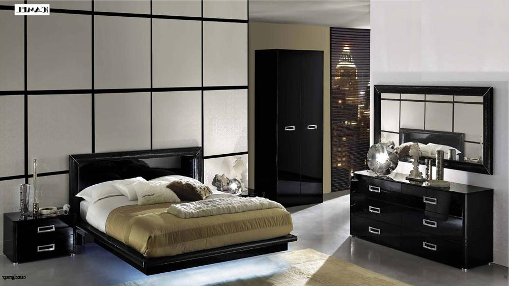 black lacquer bedroom furniture sets photo - 1