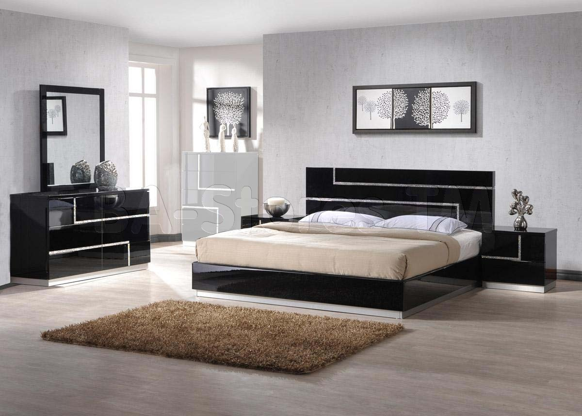 black lacquer bedroom furniture sets photo - 10