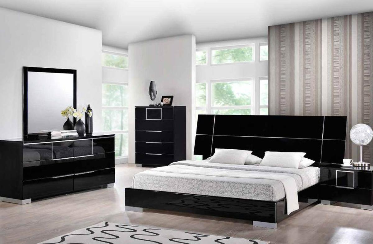 black lacquer bedroom furniture sets photo - 9