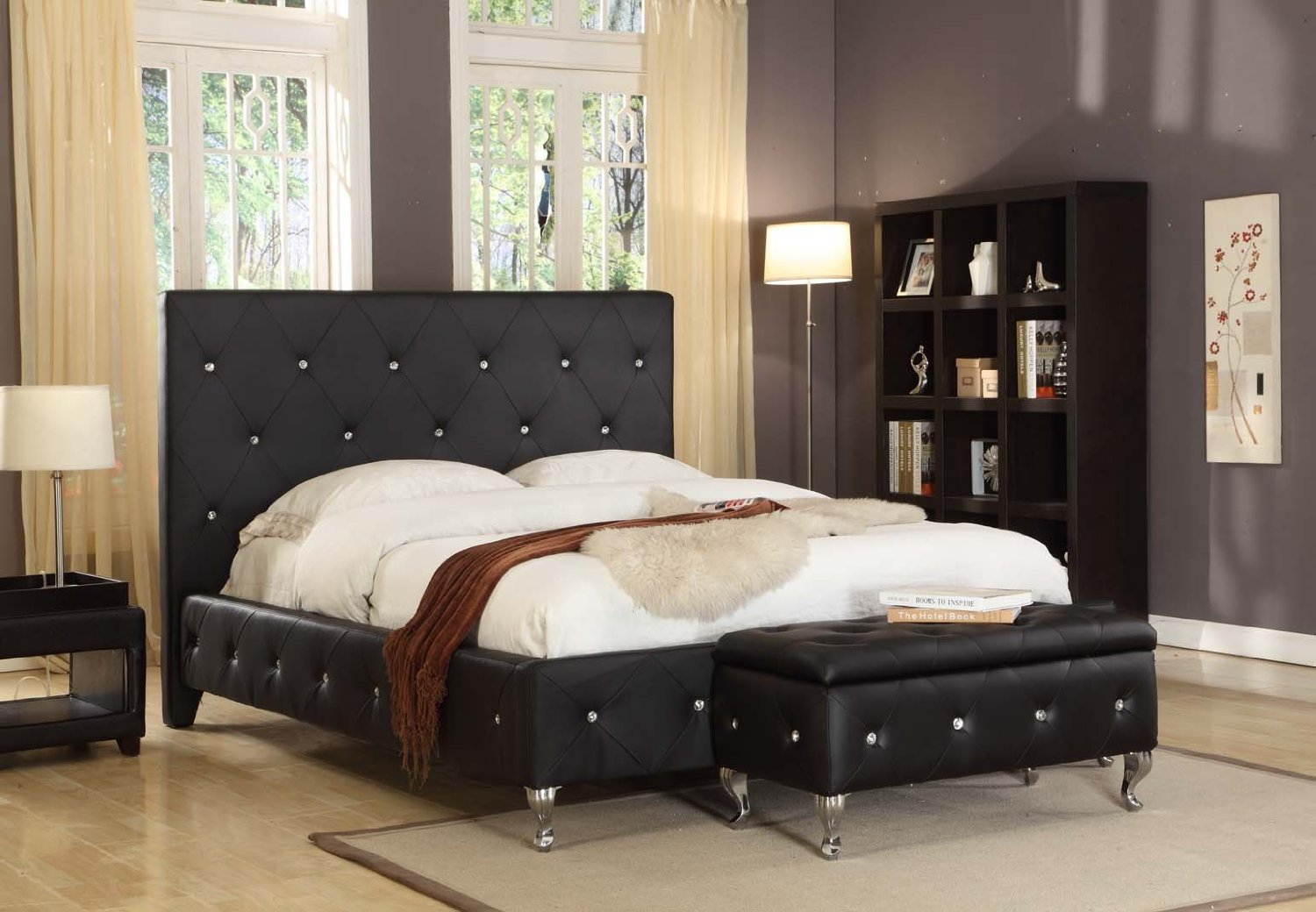 black leather bedroom furniture photo - 3