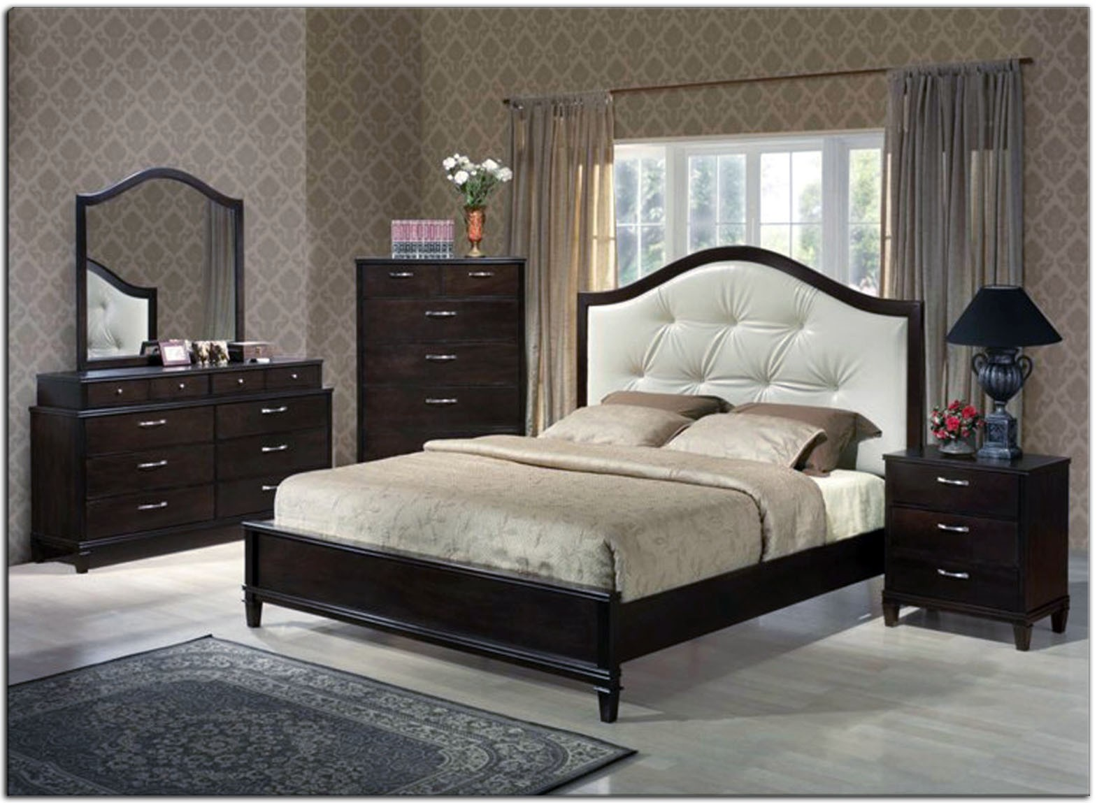 black leather bedroom furniture photo - 4