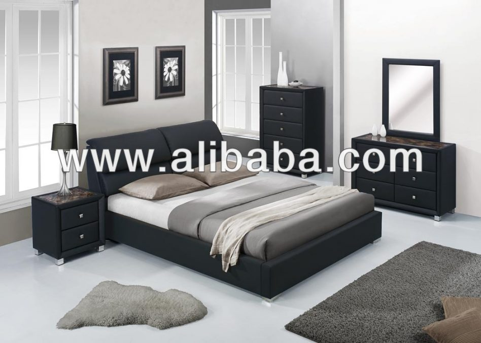 black leather bedroom furniture photo - 8