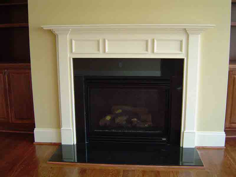 black marble fireplace surround photo - 4