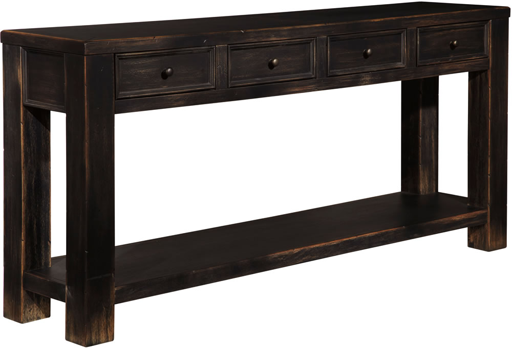 black sofa table photo - 2