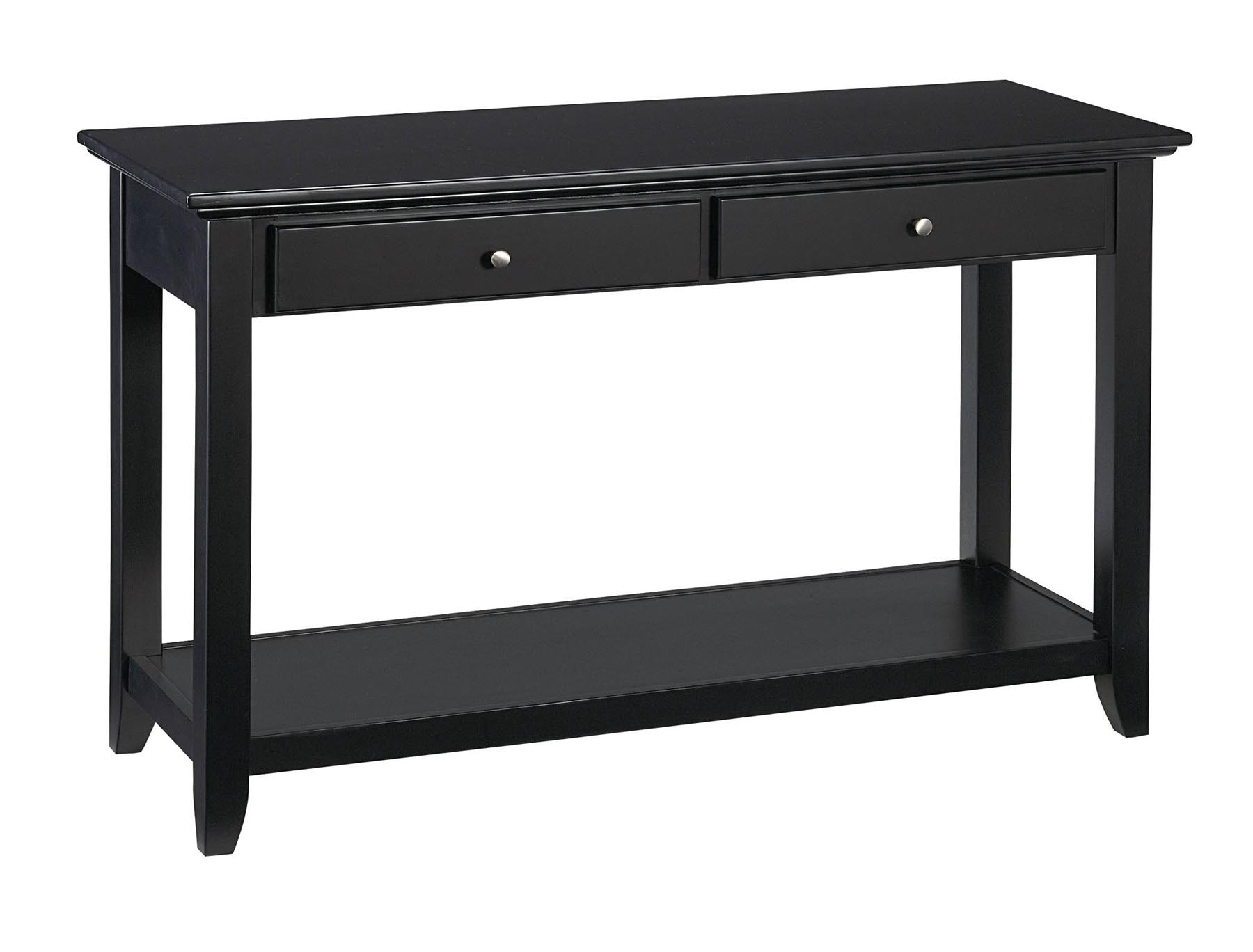 black sofa table photo - 4