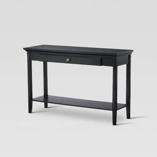 black sofa table photo - 9