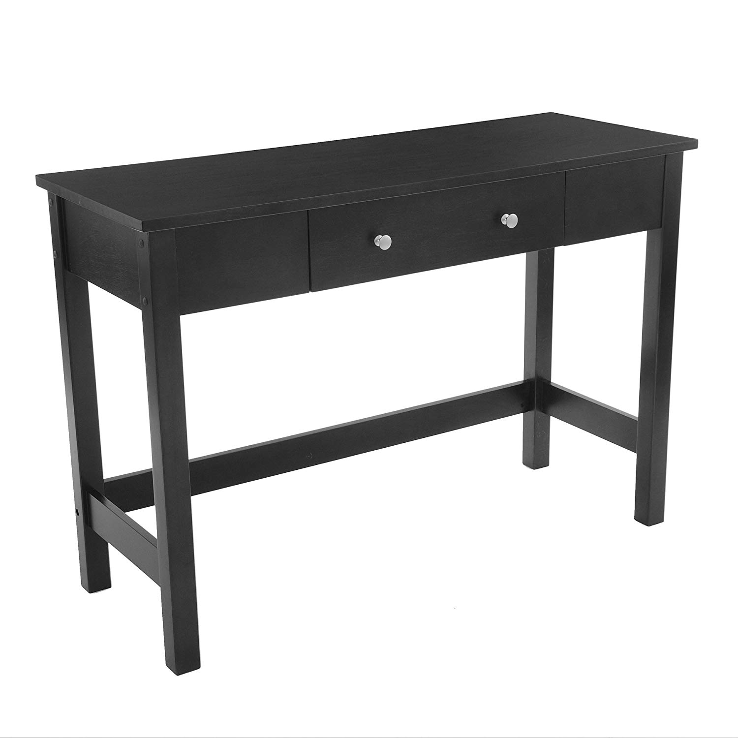 black sofa table with drawers photo - 7