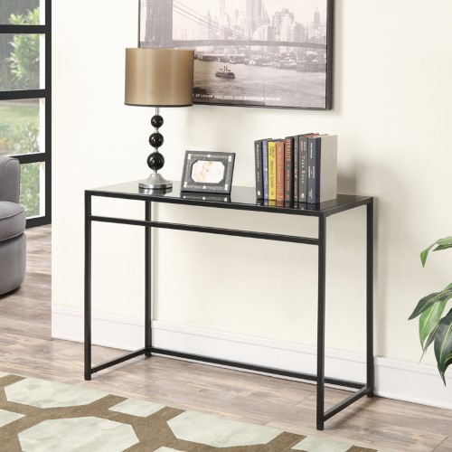 black sofa table with glass top photo - 10