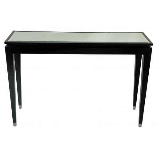 black sofa table with glass top photo - 2