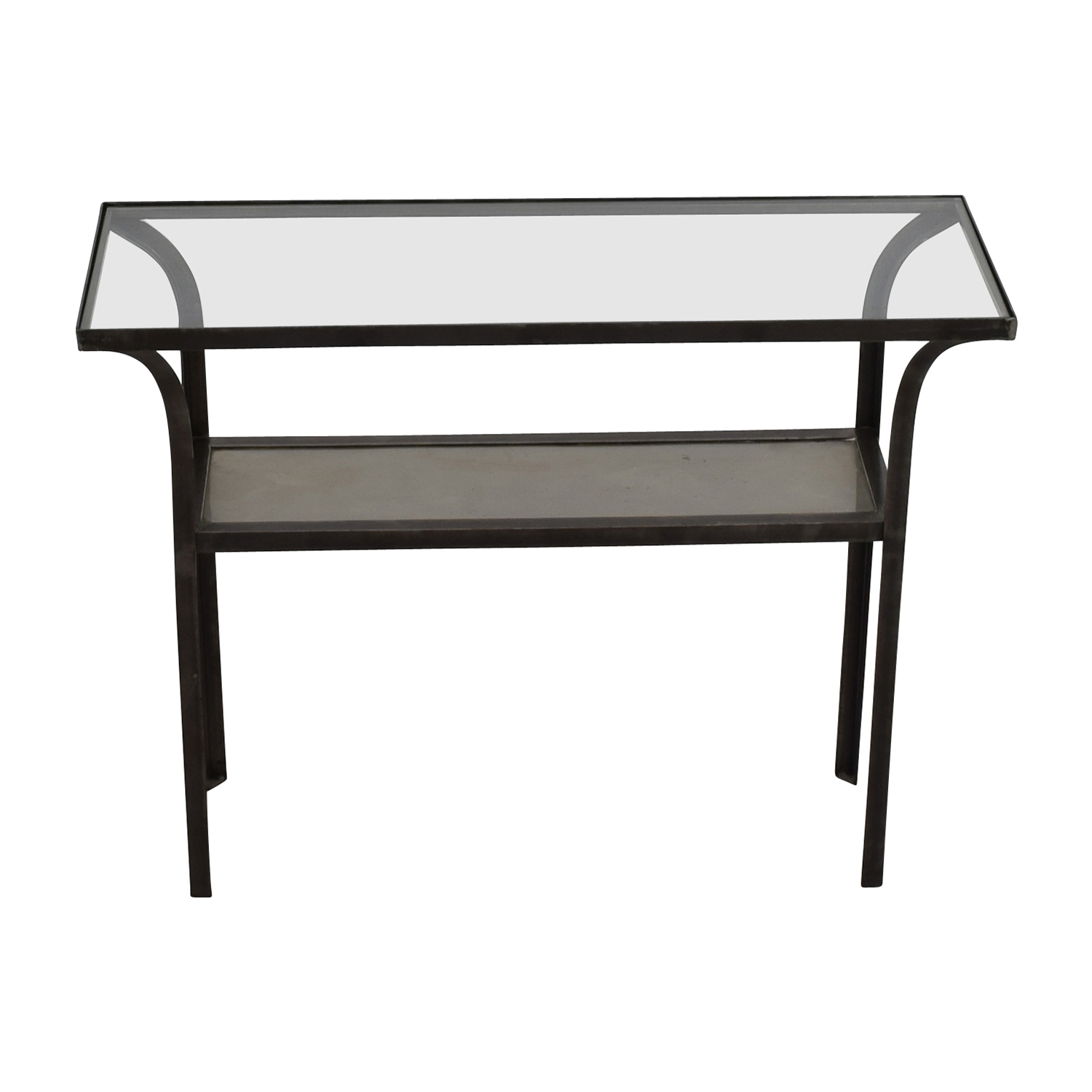 black sofa table with glass top photo - 6
