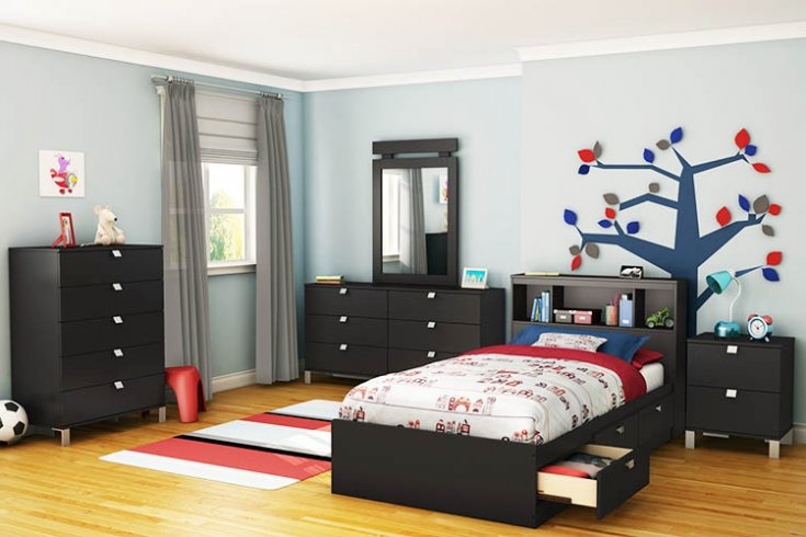 black toddler bedroom furniture photo - 1