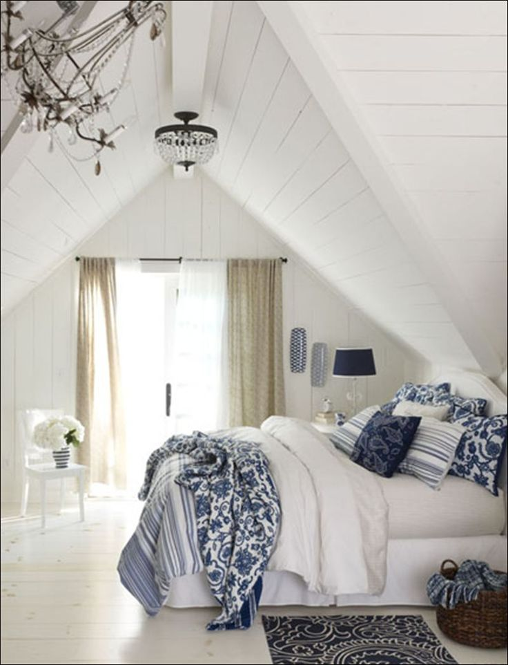 blue and white bedroom accessories photo - 3
