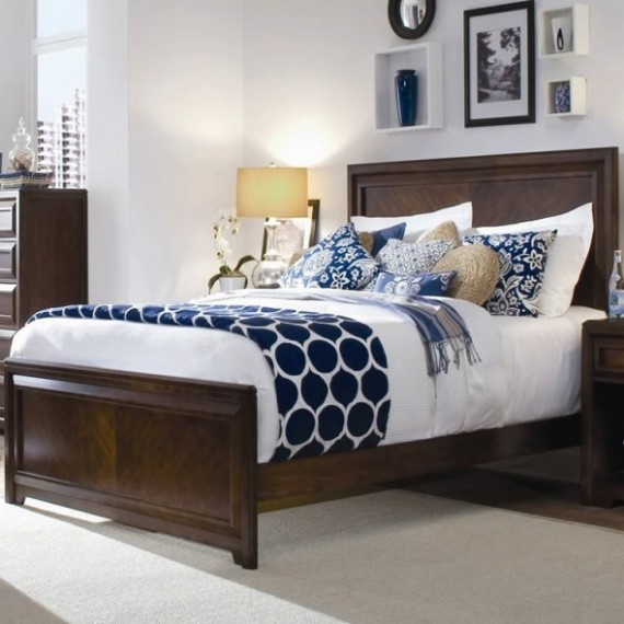 blue and white bedroom accessories photo - 9