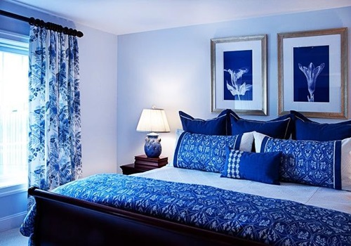 blue and white bedroom decorating ideas photo - 3