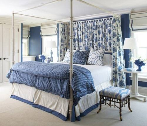 blue and white bedroom decorating ideas photo - 8