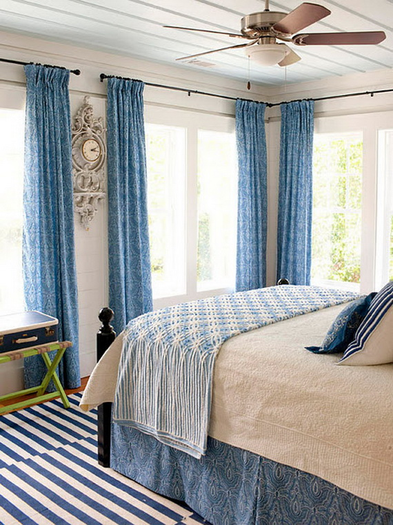 blue and white bedrooms ideas photo - 3