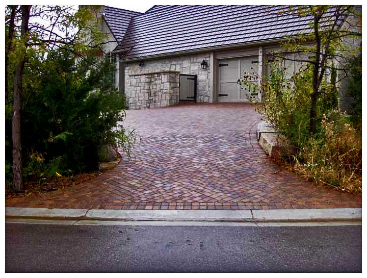 brick entrance designs driveway photo - 5