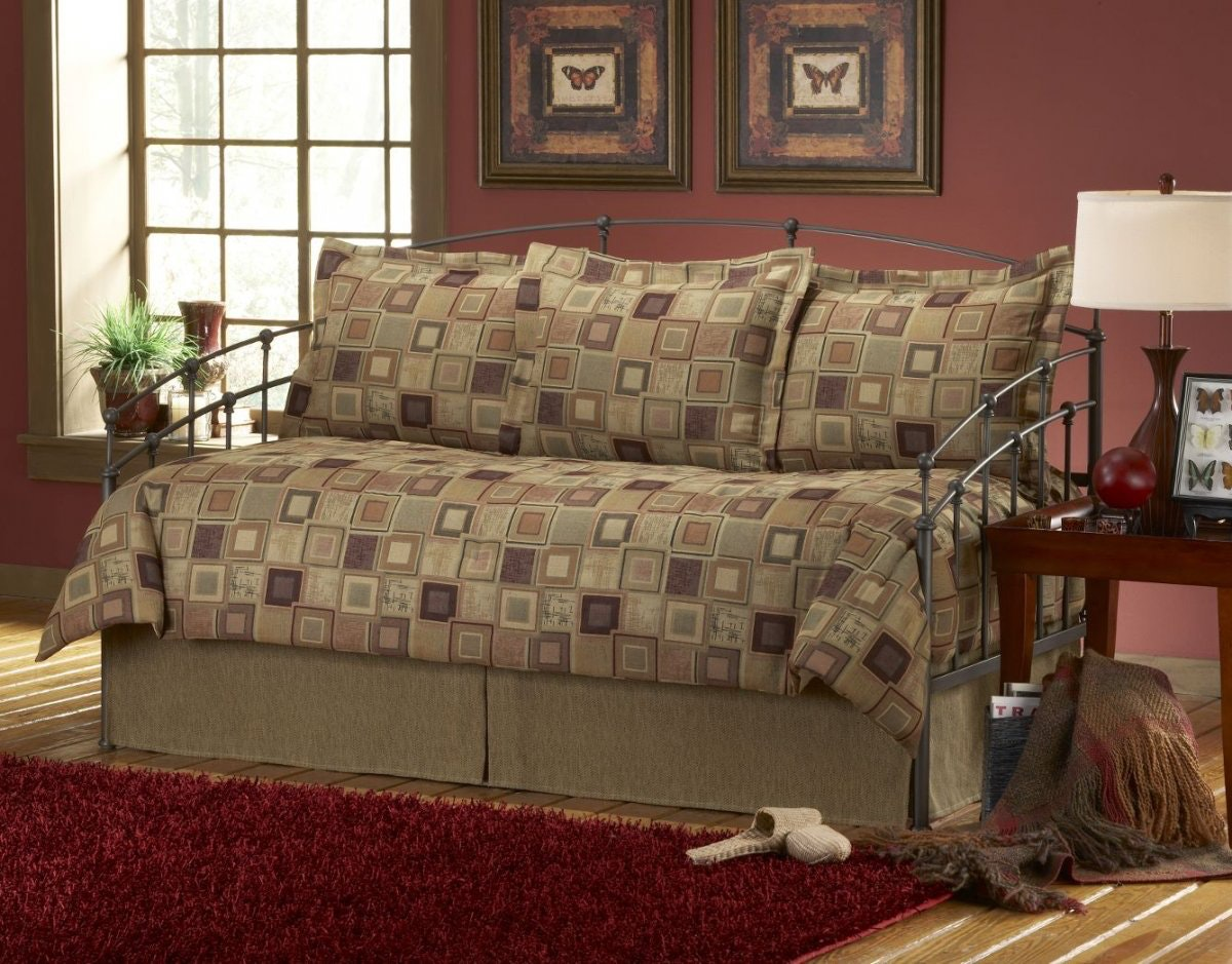 brown daybed bedding sets photo - 2