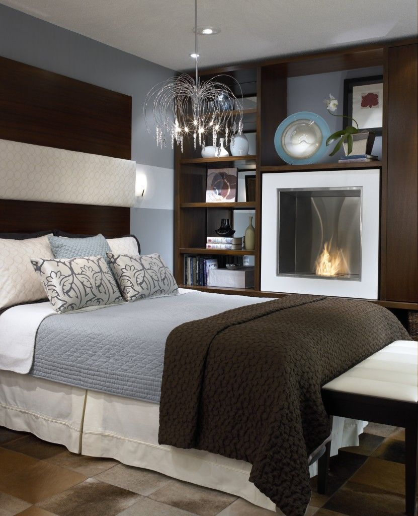 candice olson bedroom fireplace photo - 2