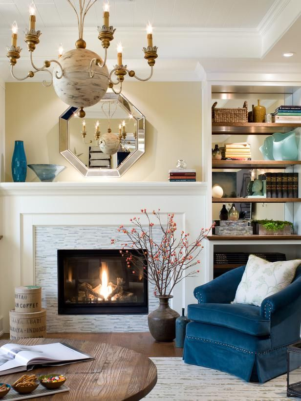 candice olson bedroom fireplace photo - 4