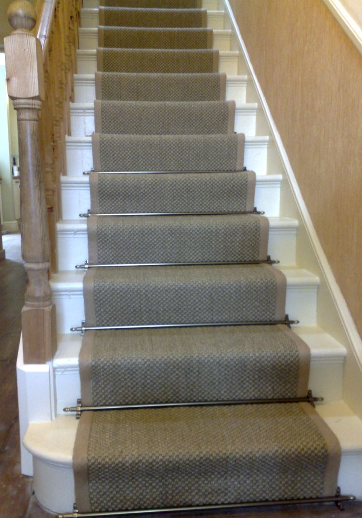 carpet runner stair bars photo - 10