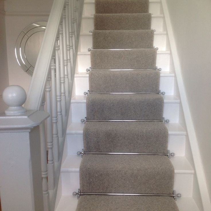 carpet runner stair bars photo - 2