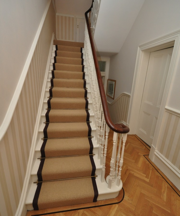 carpet runner stair bars photo - 3
