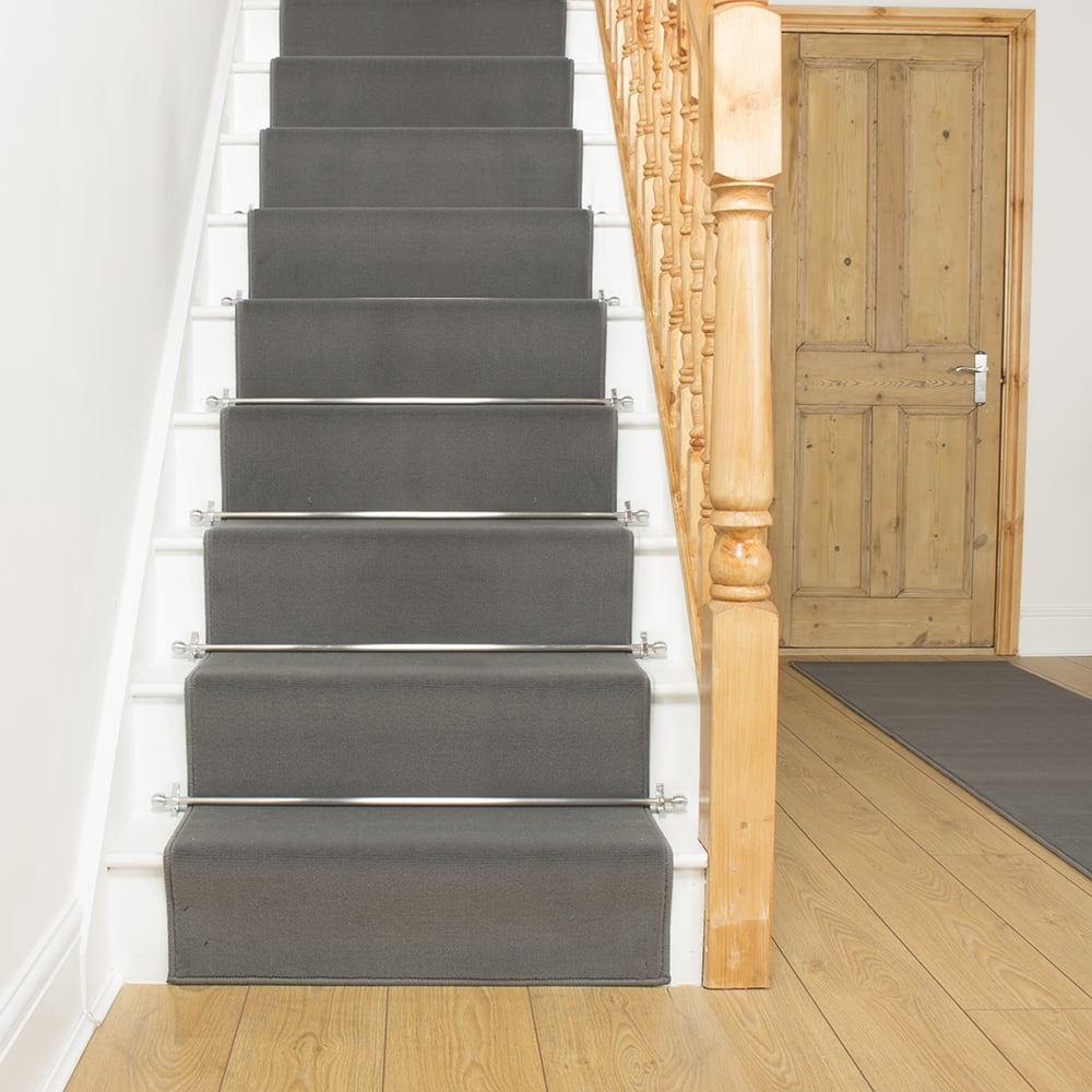 carpet runner stair bars photo - 4