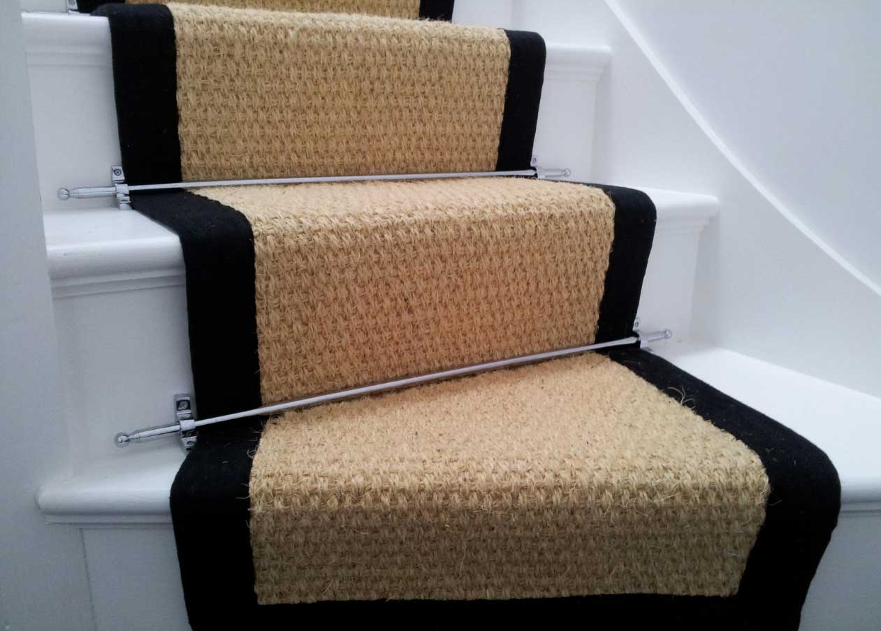 carpet runner stair bars photo - 6