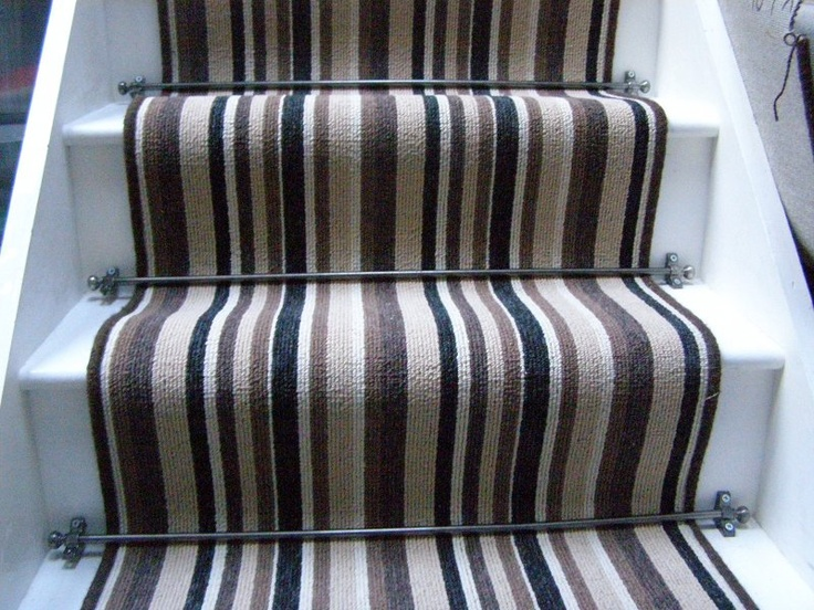 carpet runner stair bars photo - 7