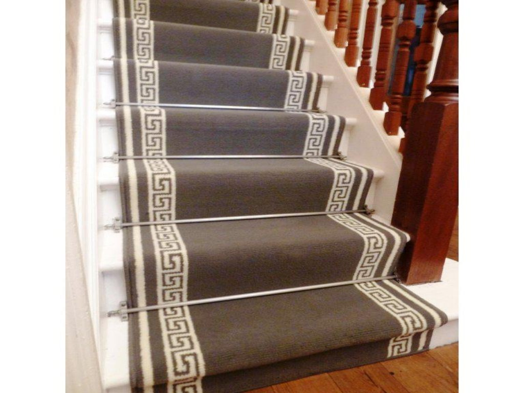carpet runner stair bars photo - 8