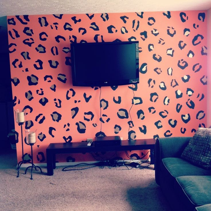 cheetah print bedroom walls photo - 8