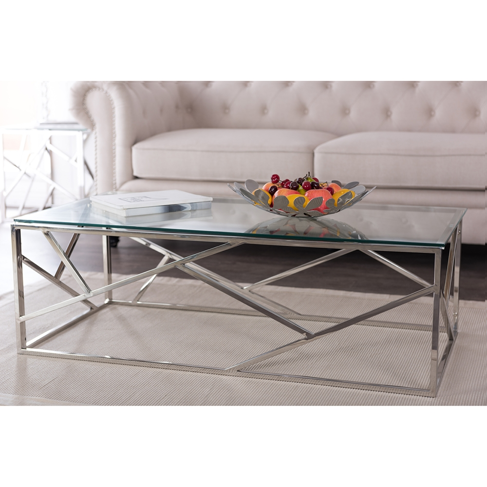 contemporary coffee tables glass top photo - 5