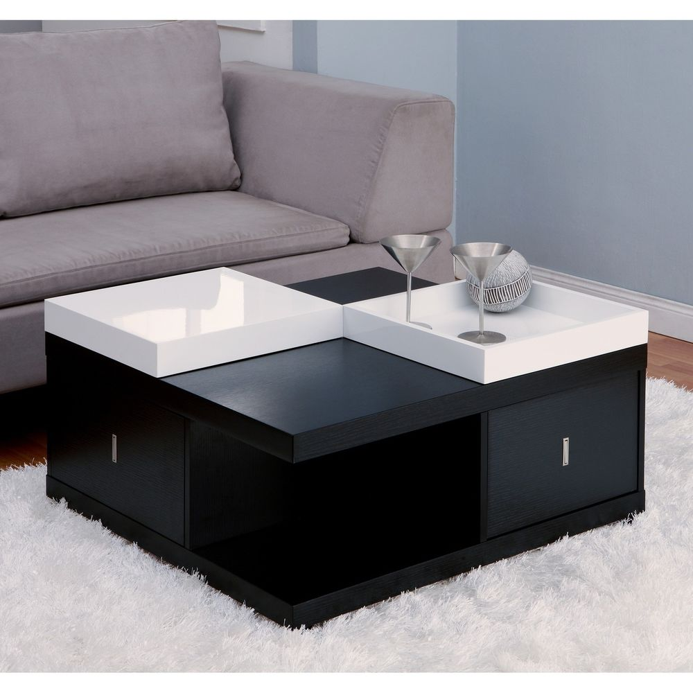 contemporary coffee tables with storage photo - 8