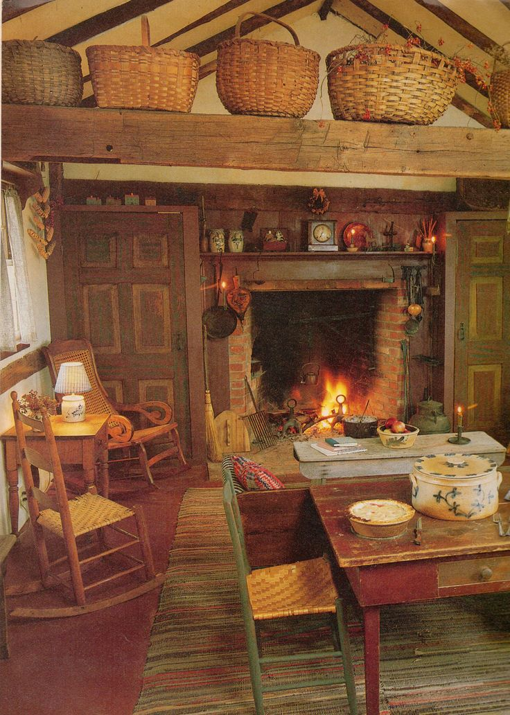 country kitchen fireplaces pictures photo - 1