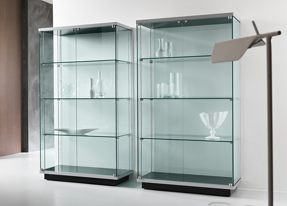 cupboard designs with glass photo - 2