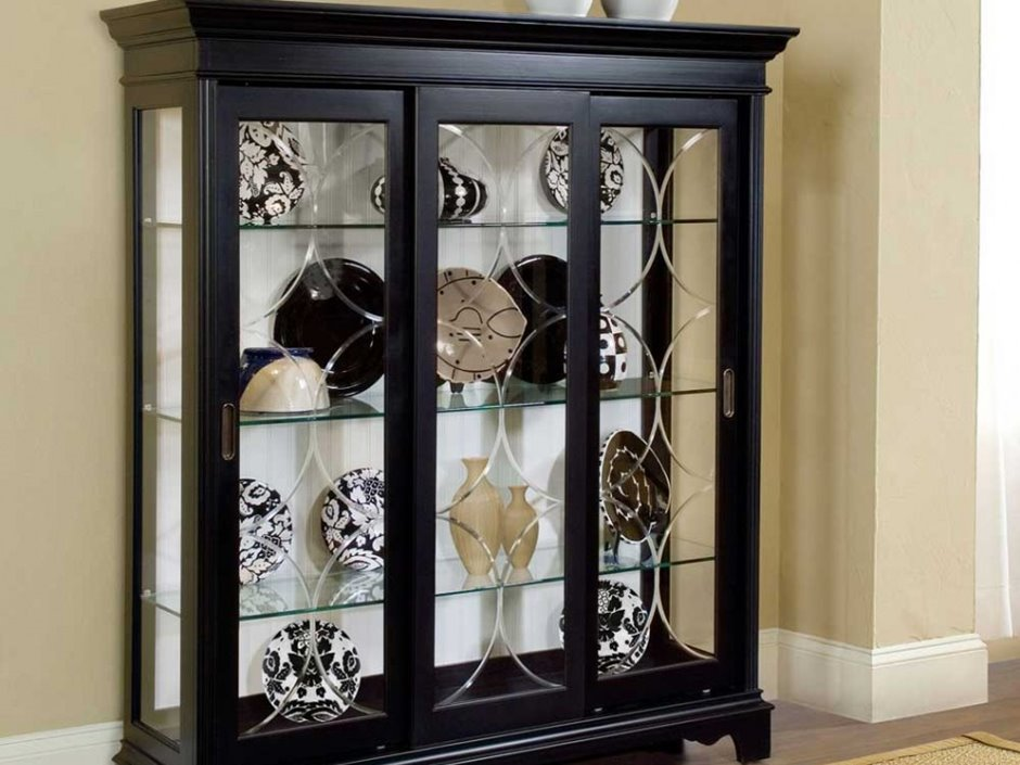 cupboard designs with glass photo - 3