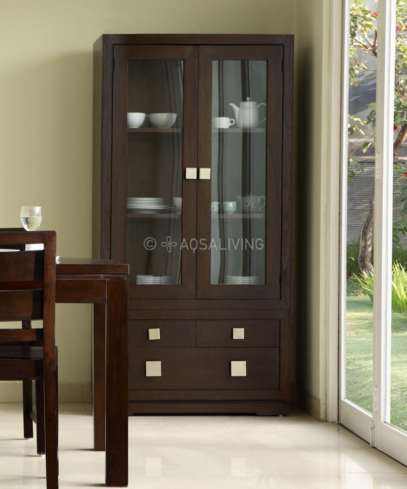 cupboard designs with glass photo - 5