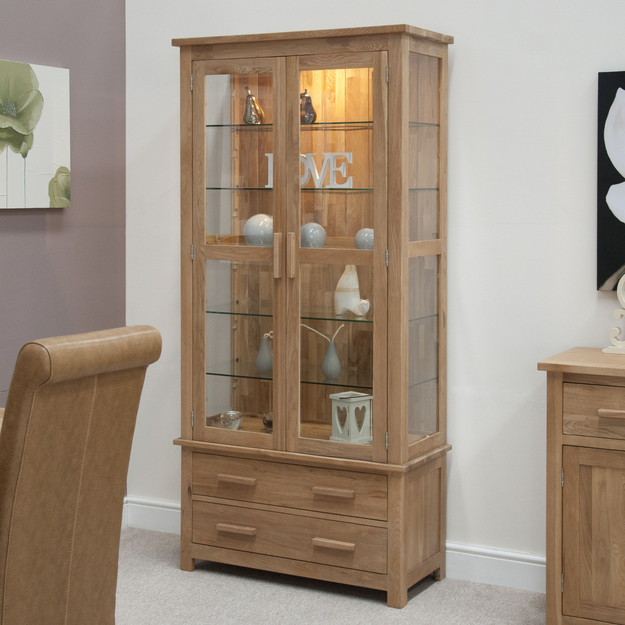 cupboard designs with glass photo - 6