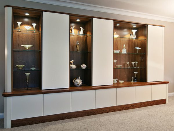 cupboard designs with glass photo - 8