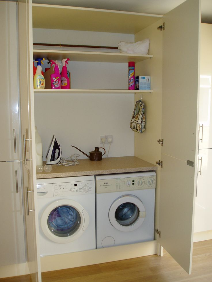 cupboard laundry designs photo - 3